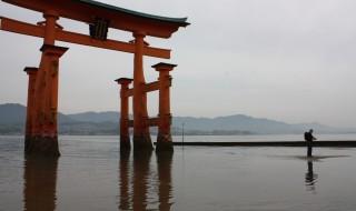 宮島の大鳥居(干潮時)