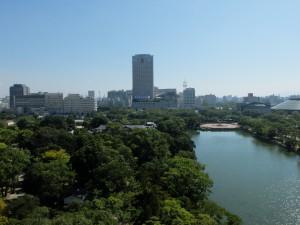 広島城から見た広島の街
