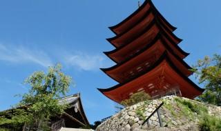 宮島の五重の塔