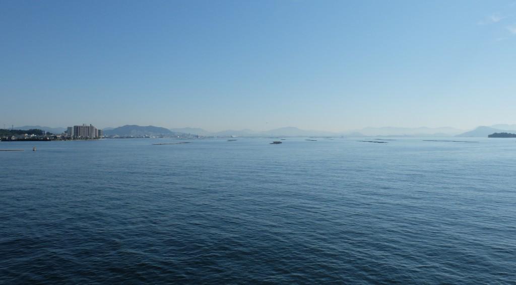 JR宮島フェリーからの瀬戸内海
