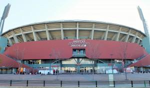 マツダスタジアム2015年開幕戦の朝