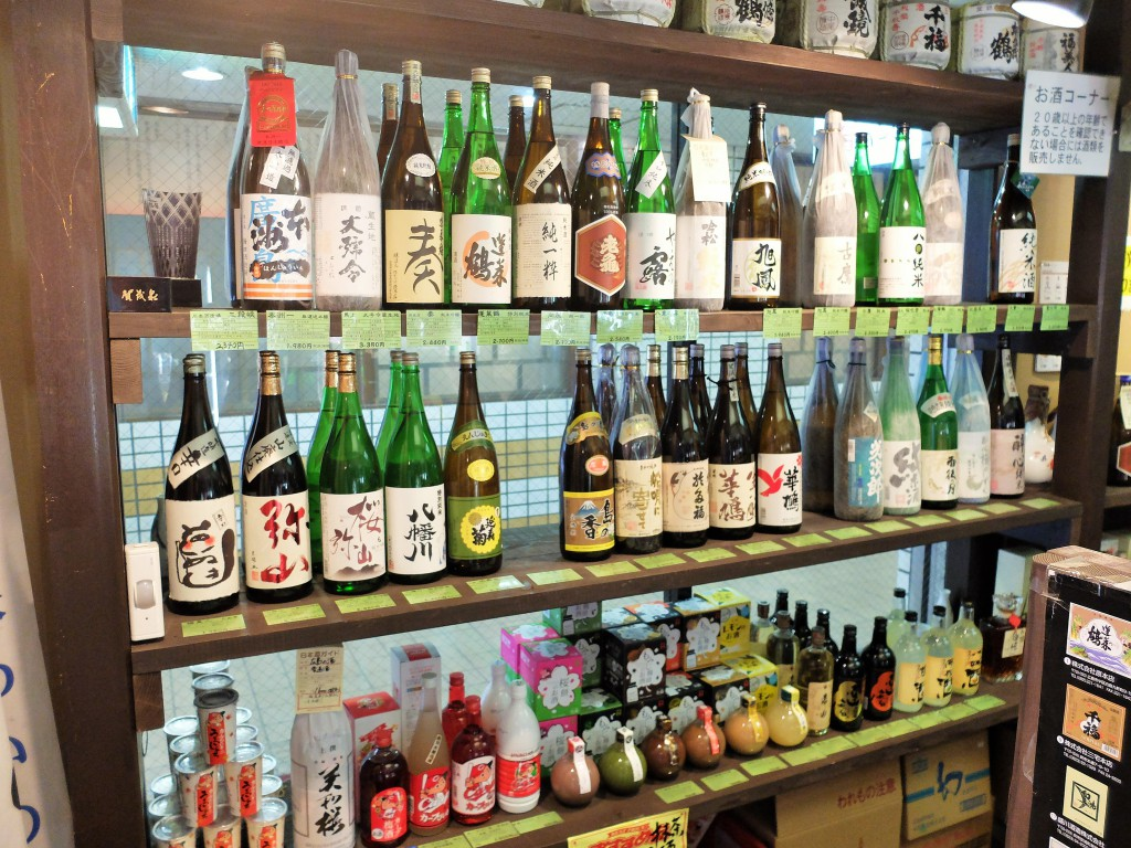 広島の酒が置かれた棚