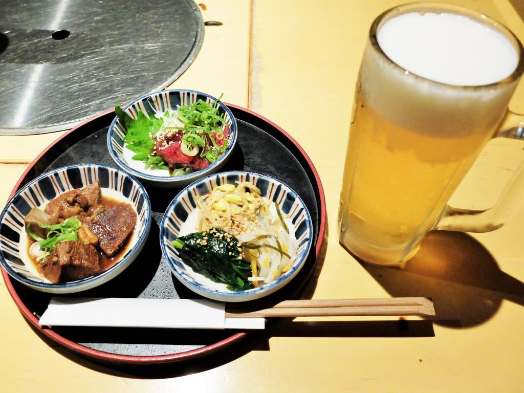 牛タン煮込み&桜ユッケ&ナムル
