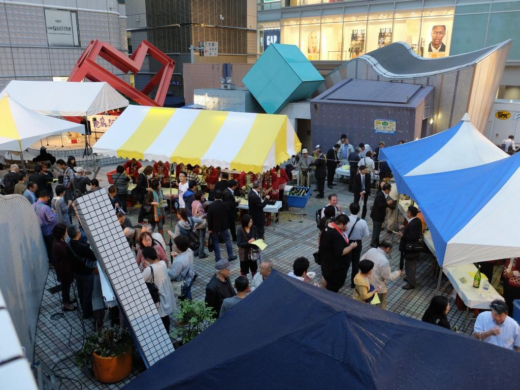 広島の酒祭り会場の様子